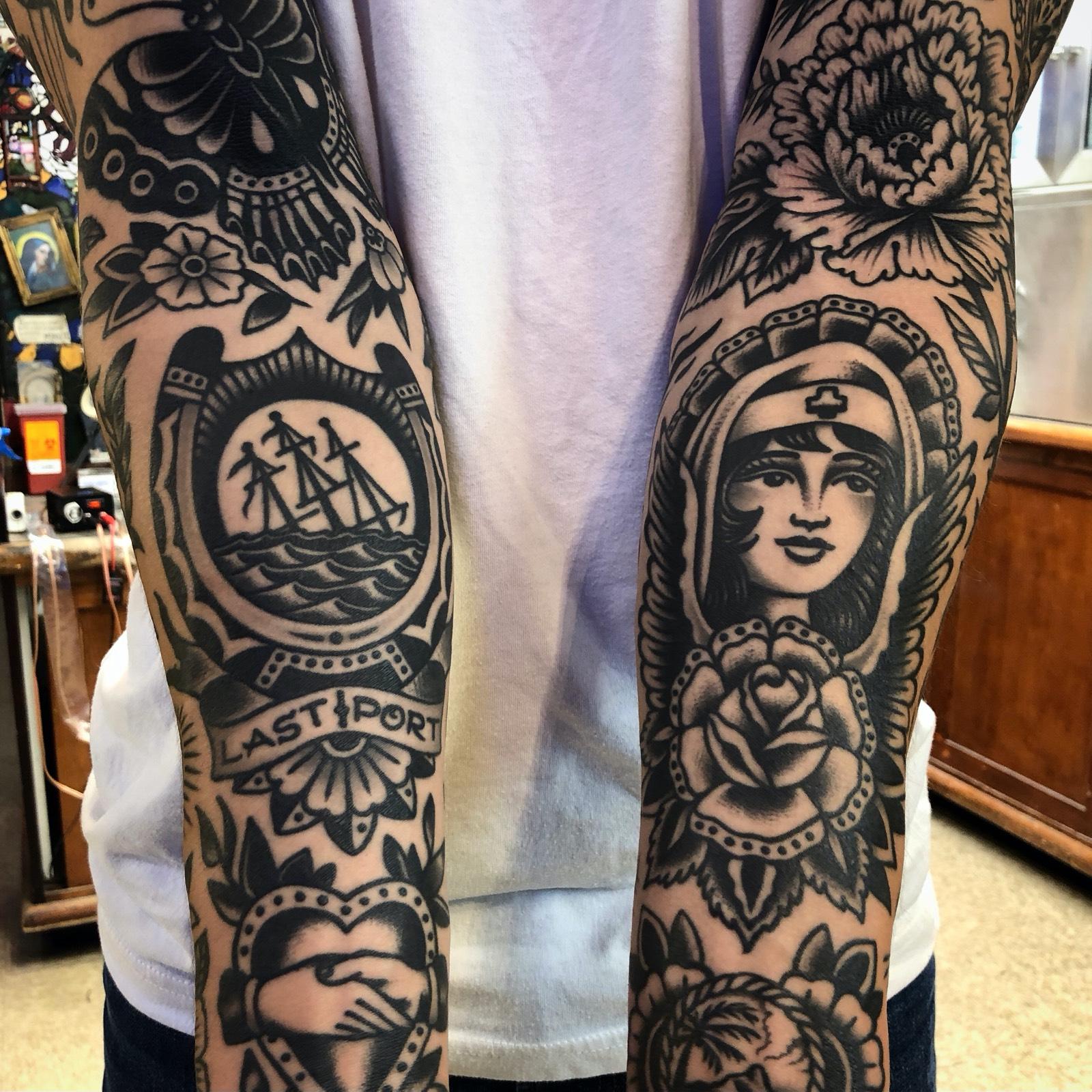 Paul Dobleman Black Heart Tattoo